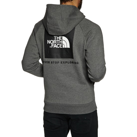 North Face Raglan Red Box Mens Pullover Hoody