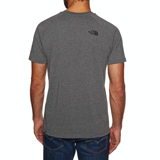 North Face Raglan Red Box Mens Short Sleeve T-Shirt
