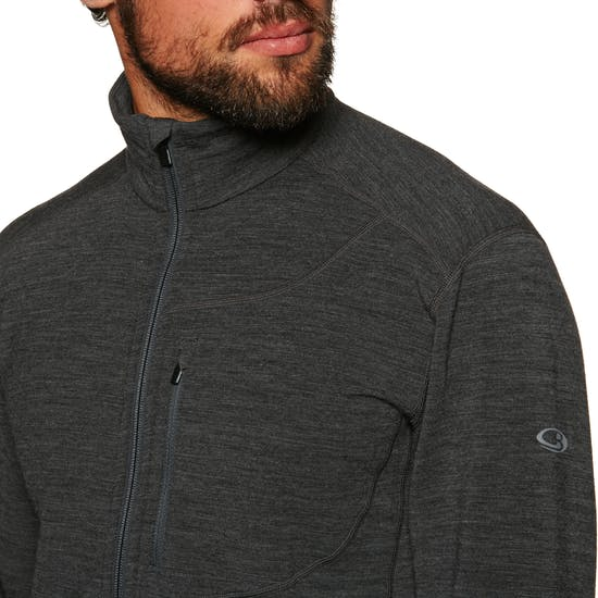 Icebreaker Mens Descender Ls Zip Fleece