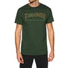 Thrasher Davis Short Sleeve T-Shirt - Forest Green