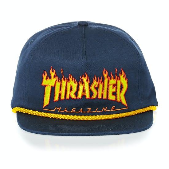 Thrasher Flame Rope Snapback Cap