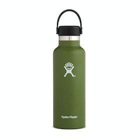 Bottiglia d'Acqua Hydro Flask 18 oz Standard Mouth With Flex Cap - Olive