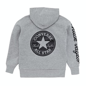 Converse Chuck Taylor Graphic Oversize Kids Pullover Hoody - Dark Grey Heather