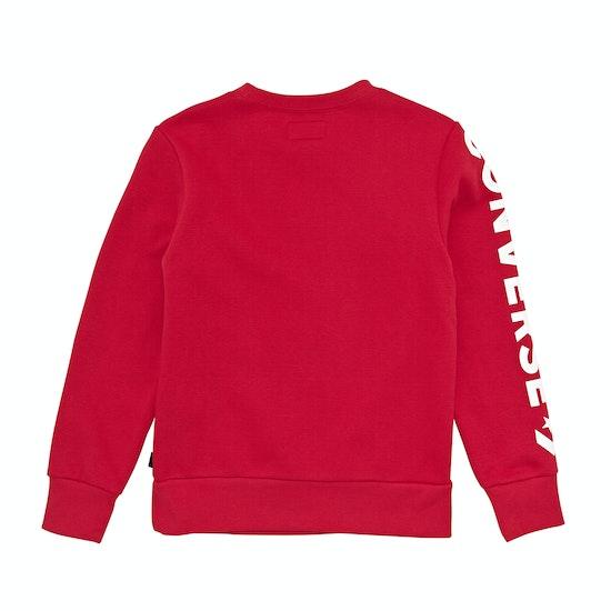 Converse Appliqued Star Chevron Crew Kids Sweater
