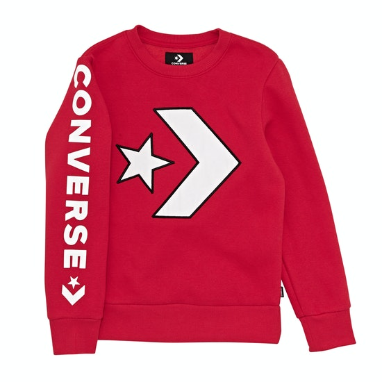 Converse Appliqued Star Chevron Crew Kids セーター