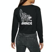 Afends Black Alley Cats Ladies Long Sleeve T-Shirt