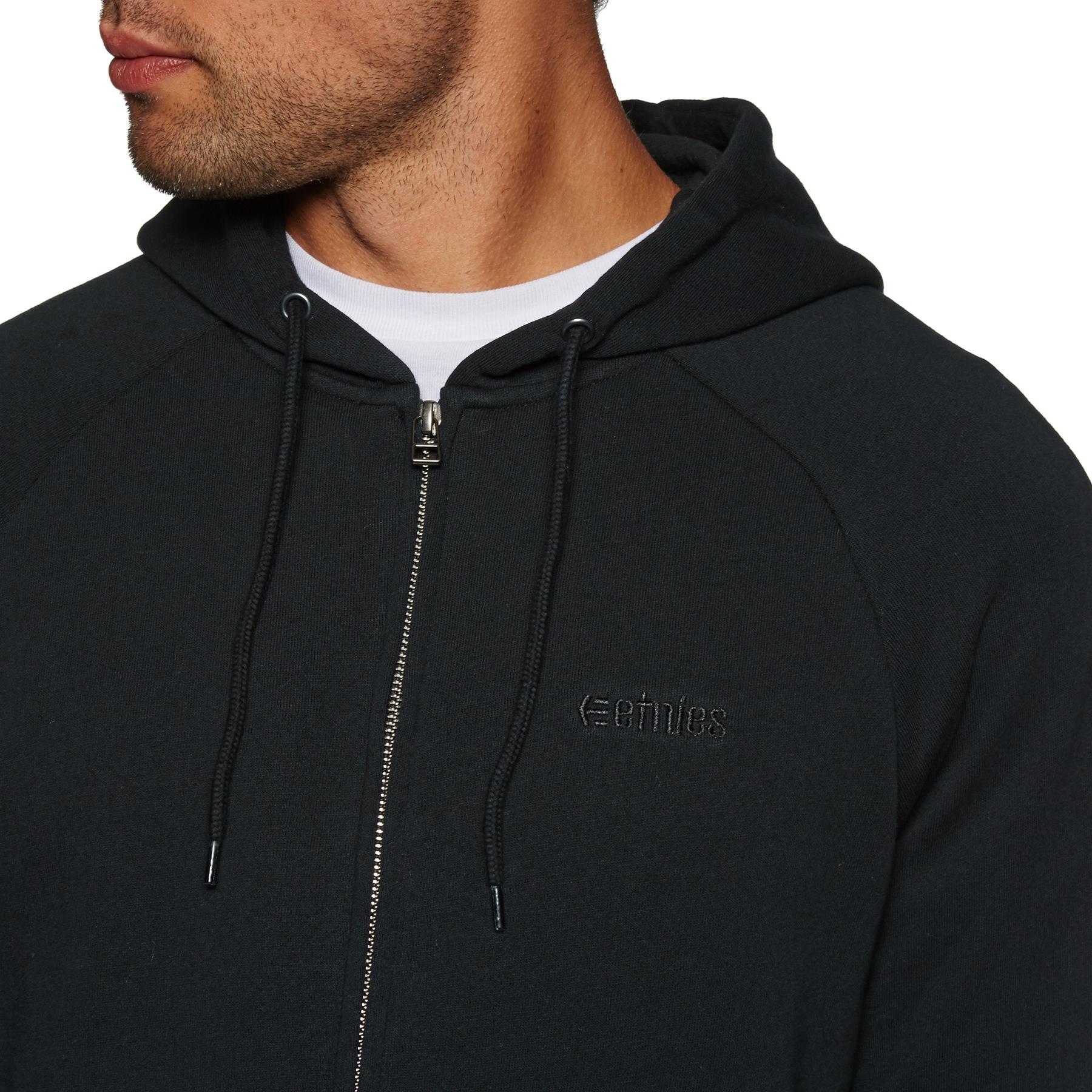 Etnies Core Icon Zipped Hoody in Black Grey