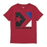 T-Shirt de Manga Curta Criança Converse Star Chevron Box