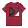 T-Shirt de Manga Curta Criança Converse Star Chevron Box - Enamel Red