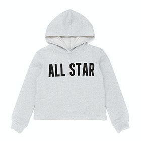 Converse All Star Cropped Kids Pullover Hoody - Lunar Rock Heather