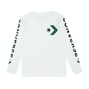 Converse Star Chevron Wordmark Kids Long Sleeve T-Shirt