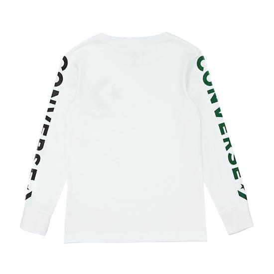 Converse Star Chevron Wordmark Kids Long Sleeve T-Shirt