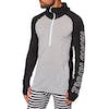 Mons Royale Temple Tech Hooded Base Layer Top - Black Grey Marl