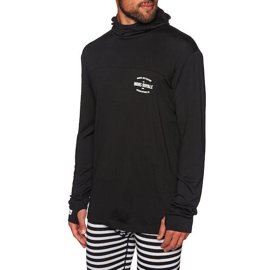 Top Abbigliamento Base Mons Royale Yotei Powder Hood Long Sleeve