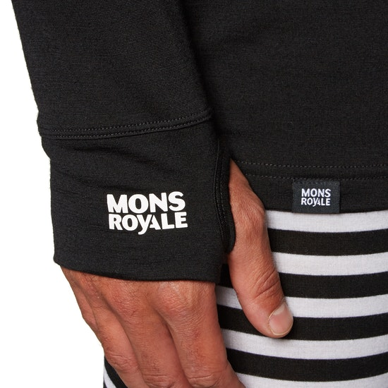Mons Royale Yotei Powder Hood Long Sleeve Base Layer Top