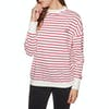 SWELL Aloha Stripe Crew Womens Sweater - Red & White Stripe
