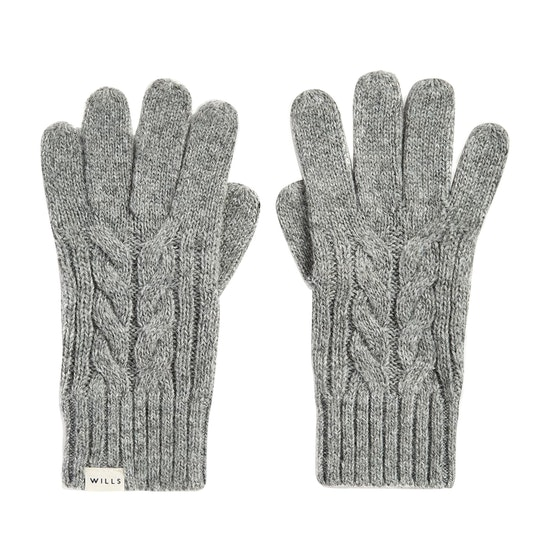 Jack Wills Dovecote Cable Womens Gloves