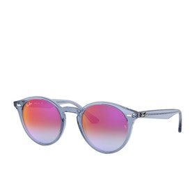 Ray-Ban 0rb2180 Sunglasses - Havana~gradient Blue Mirror Red