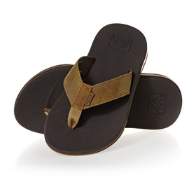 Reef Leather Fanning Low Sandals - Brown