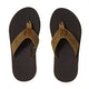 Reef Leather Fanning Low Flip Flops