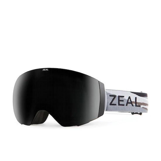 Zeal Portal Horizon Grey - Dark Grey + Sky Blue Mirror Snow Goggles