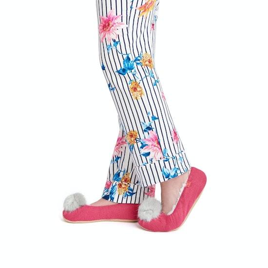 Pantuflas Mujer Joules Slippoms Ballet With Pom Pom