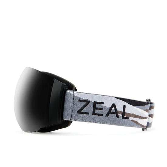 Zeal Portal Horizon Grey - Dark Grey + Sky Blue Mirror Snow Goggles