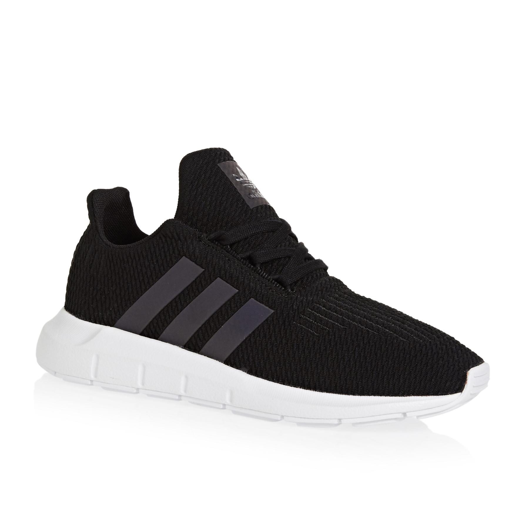 Details about adidas Originals Swift Run C BlackWhite Knit Junior Trainers Shoes