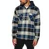 Brixton Bowery Hood Flannel Shirt - Black Blue