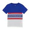 Converse Retro Striped Kids Short Sleeve T-Shirt - Blue