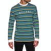 Welcome Surf Stripe Long Sleeve T-Shirt - Black White