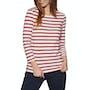 Cream Navy Red Stripe