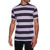 Welcome Big Beautiful Stripe Short Sleeve T-Shirt - Black Lavender