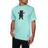 Grizzly Og Bear Short Sleeve T-Shirt - Celadon/black