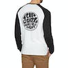 T-Shirt à Manche Longue Rip Curl Original Raglan - Black White