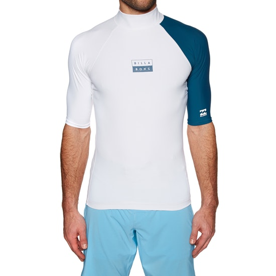 Billabong Contrast Short Sleeve Rash Vest