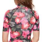 Billabong Flower Short Sleeve Ladies Rash Vest
