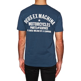 T-Shirt à Manche Courte Deus Ex Machina Canggu Address - Navy