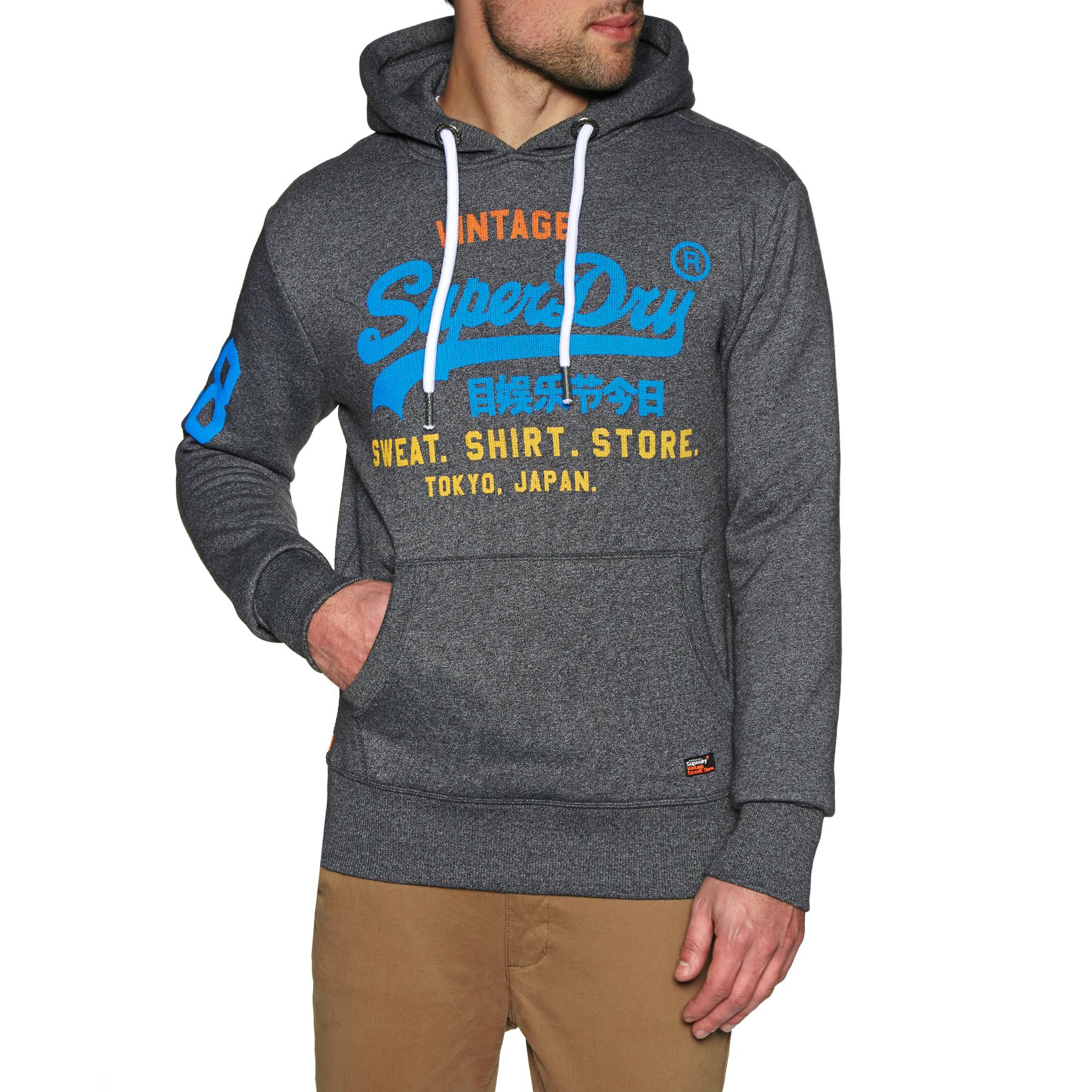 Superdry Sweat Shirt Boutique Sweat à capuche en Charcoal