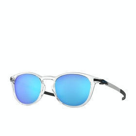 Oakley Pitchman R Sunglasses - Polished Clear~prizm Sapphire