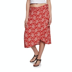 SWELL Heidi Wrap Skirt - Red