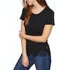 T-Shirt à Manche Courte Femme Superdry Morocco Lace Hem - Black
