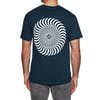Spitfire T Shirt Classic Swirl Short Sleeve T-Shirt - Navy White
