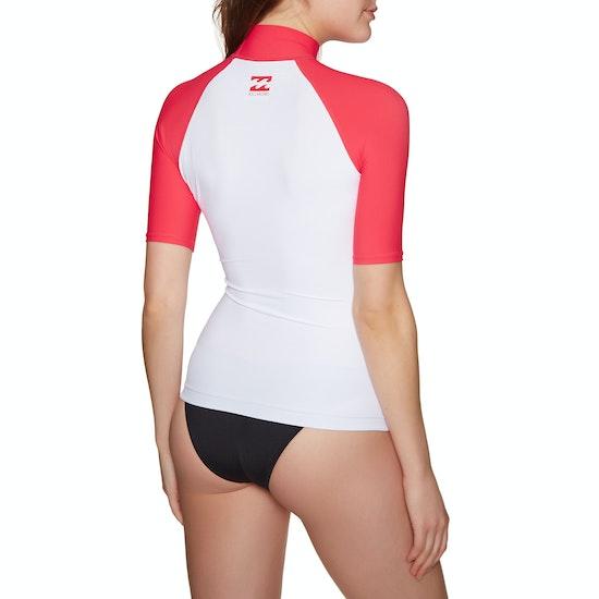 Billabong Logo Short Sleeve Womens Rash Vest