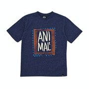 T-Shirt de Manga Curta Boys Animal Checkers