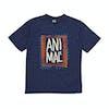 Animal Checkers Boys Short Sleeve T-Shirt - Nautical Blue Marl