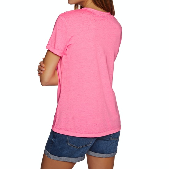 Superdry Burnout Vee Dames T-Shirt Korte Mouwen
