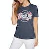 T-Shirt à Manche Courte Femme Superdry Premium Script Floral - Rinse Navy Marl