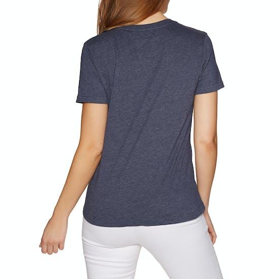T-Shirt à Manche Courte Femme Superdry Premium Script Floral
