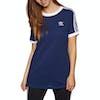 Adidas Originals 3 Stripe Damen Kurzarm-T-Shirt - Dark Blue